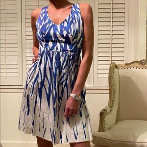 New Milly blue and white painted dress